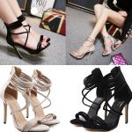 รองเท้าส้นสูง ไซต์ 35-40 สีครีม/ดำ