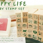 Pre order Stamp funnyman HAPPY LIFE DIARY STAMP SET