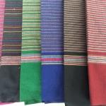 ผ้าถุง ผ้าซิ่น ลายริ้ว ผ้าโพลี (พับคู่) คละสี 90*180ซม ผืนละ 45 บาท ส่ง 100ผืน