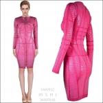 HV0932 / Preorder Herve Leger Dress Style พรีออเดอร์เดรสไตล์ Hervr Leger เดรสผ้ายืด ใส่สวยเน้นรูปร่าง แบบเก๋ทันสมัย สไตล์ดาราและเซเลบกำลัง HOT HIT