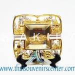 ของพรีเมี่ยม ของที่ระลึกไทย จานโชว์ แบบที่ 3 Size S สีเงินลายทอง