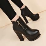 รองเท้าบูทส้นสูงหนังสวยๆ ไซต์ 34-40