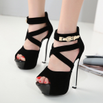 รองเท้าส้นสูงสีดำ ไซต์ 34-39