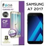 Samsung A7 2017 (เต็มจอ) - ฟิล์มเต็มจอลงโค้ง Focus (CURVED FIT TPU) แท้