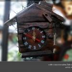 นาฬิกา+ใส่กระดาษทิชชู ไม้สัก
