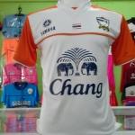 เสื้อกีฬา เกรด A ไทย สีขาว-ส้ม
