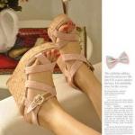 รองเท้าส้นสูง รัดส้นส้น สีชมพู สุดน่ารัก จากเกาหลี