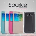 Samsung Galaxy E5 - เคสฝาพับ Nillkin Sparkle leather case แท้