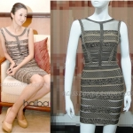 HV093 / Preorder Herve Legr Dress Style พรีออเดอร์เดรสไตล์ Hervr Leger เดรสผ้ายืด ใส่สวยเน้นรูปร่าง