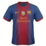 เสื้อทีมเหย้า Barcelona 2012 - 2013