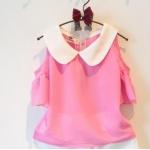 เสื้อ สีชมพู แพ็ค 5ชุด ไซส์ 100-110-120-130-140