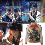 Jacket Saint Laurent Palm Tree Print Bomber Sty.JIMIN BTS -ระบุไซต์-