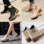 รองเท้าบูท ไซต์ 34-43 สีดำ สีครีม สีชมพู