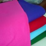 ผ้าห่มฟลีซ สีพื้น ผ้าห่มรถทัวร์ 51x67นิ้ว (130x170ซม) ผืนละ 130 บาท ส่ง 60ผืน