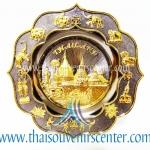 ของพรีเมี่ยม ของที่ระลึกไทย จานโชว์ แบบที่ 47 Size M สีดำลายทอง