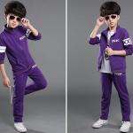 เสื้อ+กางเกง สีม่วง แพ็ค 5ชุด ไซส์ 120-130-140-150-160