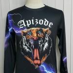 เสื้อ Apizode : เสื้อยืดพิมพ์ลาย คอกลมแขนยาว สายฟ้า Apizode