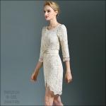 5902110 / M L XL XXL / 2016 Lace dress พรีออเดอร์ งานคัตติ้งยุโรป คุณภาพดีสมราคา สวยคอนเฟริ์ม