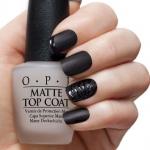 OPI- Matte top coat ท็อปแมชต ใช้สำหรับทาทับเนื้อสีปกติหรือกลิตเตอร์ให้ดูแมชตแบบกำมะหยี่