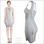 HV09019 / Preorder Herve Leger Dress Style พรีออเดอร์เดรสไตล์ Hervr Leger เดรสผ้ายืด ใส่สวยเน้นรูปร่าง แบบเก๋ทันสมัย สไตล์ดาราและเซเลบกำลัง HOT HIT