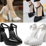 รองเท้าส้นสูงสีขาว/ดำ ไซต์ 35-40