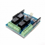 รีเลย์ 4 ช่อง Arduino Shield Four Channel Relay Electronic 5V 4 Channel Relay Shield Module For Arduino CATALEX V1.0