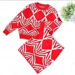 ชุดเซท เสื้อ+กระโปรง สีแดง แพ็ค 2ชุด ไซส์ 7-9