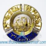 ของพรีเมี่ยม ของที่ระลึกไทย จานโชว์ แบบที่ 29 Size M ทอง-น้ำเงิน
