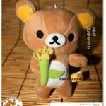 ตุ๊กตาหมีรีแลคคุมะ ถือดอกไม้