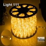 ไฟสายยาง LED (ท่อกลม) 100 m สีเหลือง