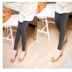 กางเกงเล็คกิ้ง L0146เอวปรับระดับมีพยุงครรภ์สีเทาเข้ม