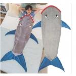 ผ้าห่มหางนางเงือก (ถุงนอน) ราคาส่ง สีเทา แพ็ค 3ชุด ยาว 142 cm.