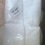 ผ้าขนหนู Cotton100% ด้ายคู่ สีขาว ผ้าเช็ดผม 15*30นิ้ว 3.5ปอนด์ โหลละ 510บาท ส่ง 10โหล