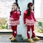 เสื้อ สีแดง แพ็ค 5ชุด ไซส์ 100-110-120-130-140