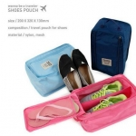 กระเป๋าใส่รองเท้า SHOES POUCH (พร้อมส่ง สีชมพู)