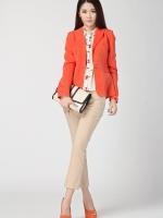 เสื้อคลุม แขนยาว สีส้ม คุณภาพดีมาก(สินค้าใหม่ พร้อมส่ง) ร้าน Ladyshop4u