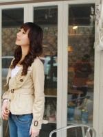 ร้าน LadyShop4U เสื้อแจ็กเก็ตปกสั้น แขนยาว สีกากี (สินค้าใหม่ พร้อมส่ง)