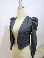 (สีเทาดำ)เสื้อคลุมทำงานแฟชั่นออฟฟิศ เสื้อใสไปงานศพ แขนยาว ผ้าคอตตอล (ใหม่ พร้อมส่ง) ร้าน LadyShop4U