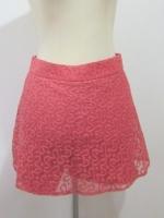(ไซส์ M สีส้มอิฐ )กระโปรงกางเกง กางเกงกระโปรง ผ้าลูกไม้ กางเกงด้านในเป็นผ้าลูกไม้ สี ตามรูป ซิปหลัง (ใหม่ พร้อมส่ง) ร้าน ladyshop4u