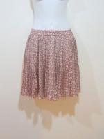 กระโปรงกางเกง กระโปรงแฟชั่น กระโปรงทำงาน กระโปรงสั้น กางเกงกระโปรง ผ้าชีฟอง ลายดอกไม้ เอวเป็นยางยืด กางเกงด้านในสีครีม (ใหม่ พร้อมส่ง) LadyShop4U