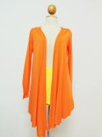 เสื้อคลุม แขนยาว สีส้ม เสื้อทำงาน เสื้อลำลอง เสื้อแฟชั่น (ใหม่ พร้อมส่ง) ร้าน LadyShop4U