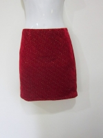 (สีแดง) กระโปรงสั้น กระโปรงแฟชั่น กระโปรงทำงาน กระโปรงลำลอง สีแดง ผ้ากำมะหยี่ ใส่สบาย สวย ดูดี (ใหม่ พร้อมส่ง) ladyshop4U