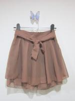 กระโปรง+กางเกง กรโปรงแฟชั่น กระโปรงทำงาน กระโปรงสั้น กางเกงกระโปรง สีน้ำตาล กางเกงด้านในสีดำ สวย ดูดี (ใหม่ พร้อมส่ง)