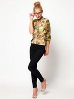 เสื้อแฟชั่น เสื้อเชิ๊ต เสื้อทำงาน เสื่อใส่เที่ยว เสื้อลวดลาย ลายดอก ผ้าเนื้อดีบางพริ้ว (ใหม่ พร้อมส่ง) ร้าน LadyShop4U