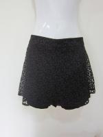 (ไซส์ L สีดำ )กระโปรงกางเกง กางเกงกระโปรง ผ้าลูกไม้ สีดำ กางเกงด้านในเป็นผ้าลูกไม้สีดำ ซิบหลัง (ใหม่ พร้อมส่ง) ladyshop4u
