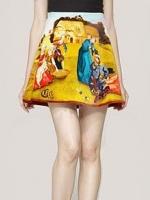 กระโปรงแฟชั่น สีเหลือง ผ้าชีฟอง ซิปข้าง มีซับใน กระโปรงสั้น กระโปรงเกาหลี (ใหม่ พร้อมส่ง) ร้าน Ladyshop4U