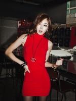 เดรสสั้น เดรสแดง เดรสแฟชั่น เดรสลำลอง สีแดง แขนกุด ผ้าคอตตอล เซ็กซี่ (ใหม่ พร้อมส่ง)ร้าน LadyShop4U