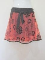 (สีชาเย็น)กระโปรง+กางเกง กางเกงไปทะเล กางเกงกระโปรง กระโปรงแฟชั่น กระโปรงทำงาน ผ้าลูกไม้อิตาเลี่ยน ลายดอกไม้ สีชาเย็น ด้านหน้าีมีโบว์ผูกสีดำ เอวยางยืด กางเกงด้านในสีดำ สวย ดูดี (ใหม่ พร้อมส่ง) ladyshop4u