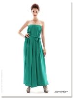 ชุดเดรสกางเกงขายาว เกาะอก มีเข็มขัดผ้า สีเขียว ชุดเดรสสวยๆ ชุดเดรสแฟชั่น เดรสไปเที่ยว เดรสแฟชั่น เดรสลำลอง เดรสเซ็กซี่ (ใหม่ พร้อมส่ง) ร้าน Ladyshop4u