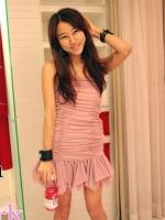 เดรสเกาะอก แต่งระบายปลายกระโปรง สีชมพู (ใหม่ พร้อมส่ง) ร้าน Ladyshop4u